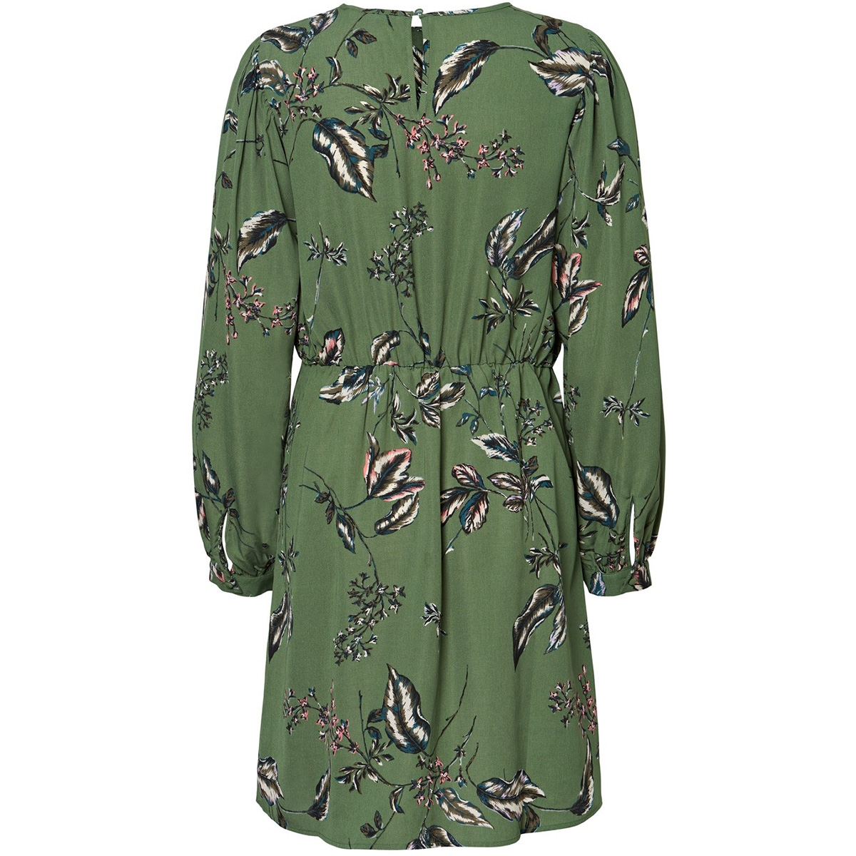 vmsus l/s short dress wvn 10225521 vero moda jurk comfrey/sus