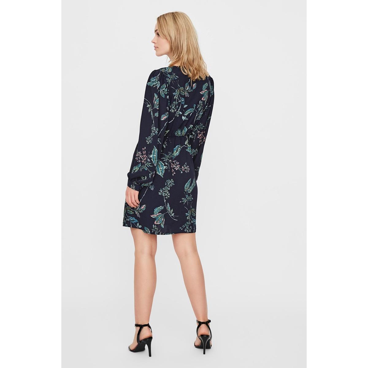 vmsus l/s short dress wvn 10225521 vero moda jurk night sky/sus