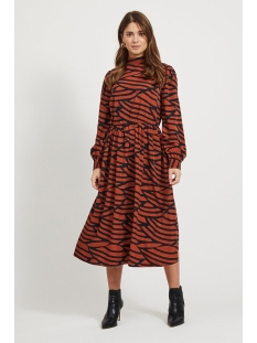 Vila Jurk VIMULLAN L/S MIDI DRESS /RX 14059341 Black/STRIPES