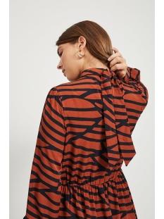 vimullan l/s midi dress /rx 14059341 vila jurk black/stripes