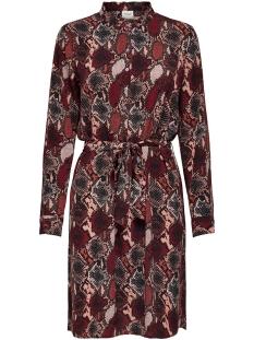 Jacqueline de Yong Jurk JDYMILO SNAKEY L/S SHIRT DRESS WVN 15207880 Red Ochre/SNAKEY