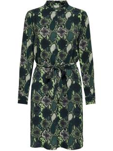 Jacqueline de Yong Jurk JDYMILO SNAKEY L/S SHIRT DRESS WVN 15207880 Scarab/SNAKEY