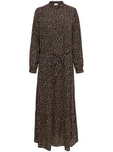 Jacqueline de Yong Jurk JDYRICCI L/S MAXI DRESS WVN 35005787 Chicory Coffee/LEO