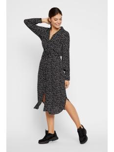 pcnicoletta ls shirt dress 17101913 pieces jurk black/animal dot