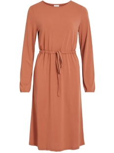 Vila Jurk VITELMA L/S DRESS 14058020 Copper Brown