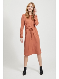 vitelma l/s dress 14058020 vila jurk copper brown