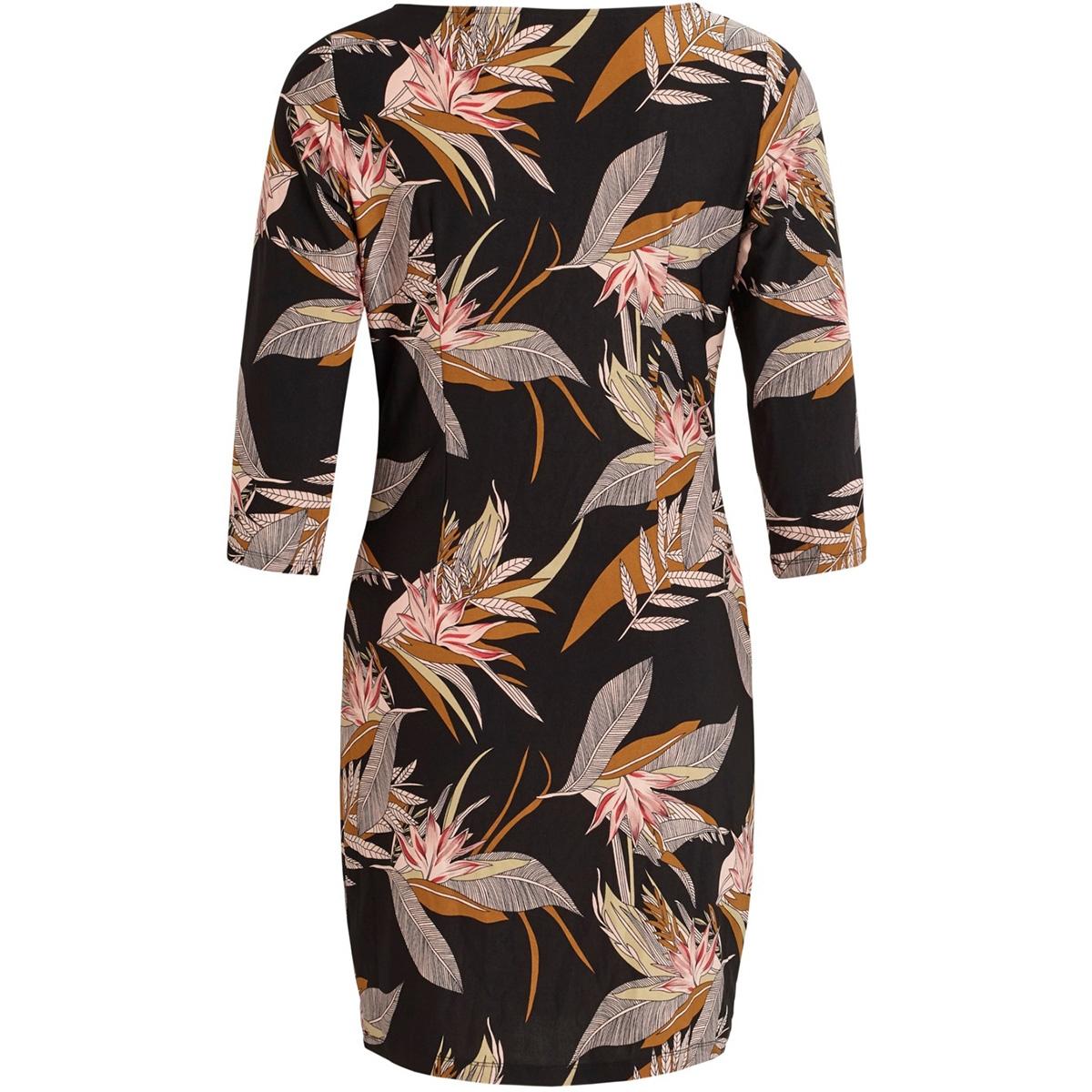 vijungle 3/4 dress/st 14057855 vila jurk black/jungle print