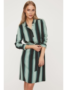 Vero Moda Jurk VMSIF LS ABK SHIRT DRESS VMC 10224880 Night Sky/GREEN AOP