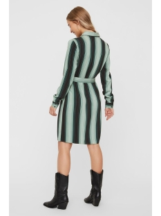 vmsif ls abk shirt dress vmc 10224880 vero moda jurk night sky/green aop