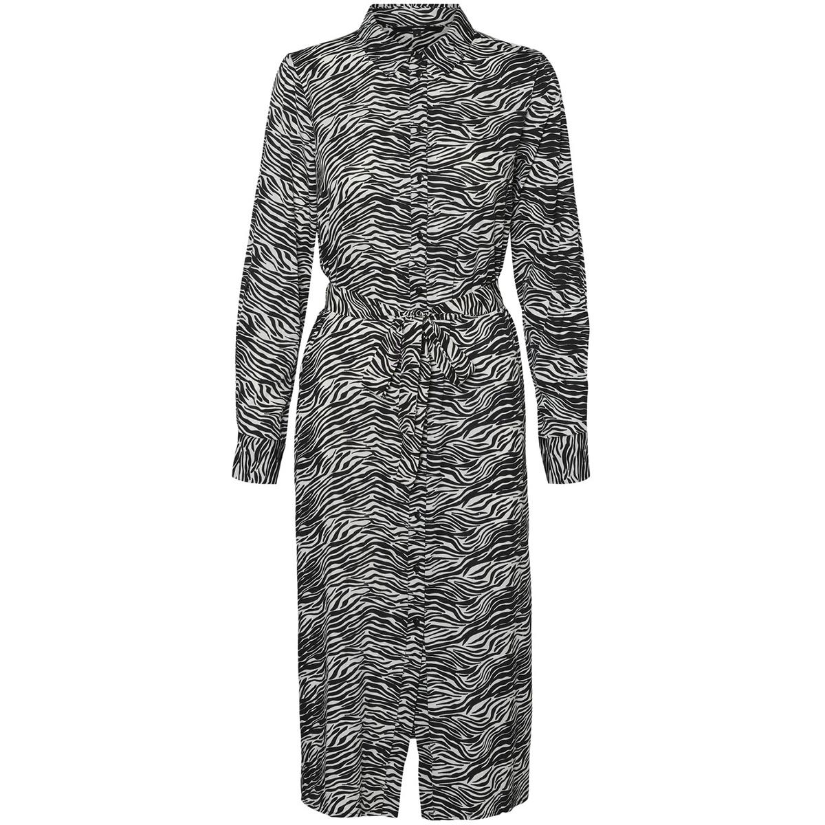 vmtrudy ls shirt dress lcs 10229984 vero moda jurk birch/trudy