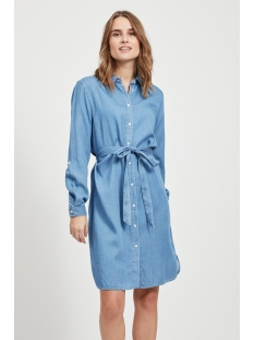 Vila Jurk VIBISTA DENIM BELT DRESS/SU - NOOS 14054674 Medium Blue/CLEAN WASH