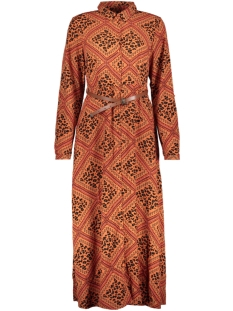 Vero Moda Jurk VMNAYA L/S MAXI SHIRT DRESS EXP 10228776 Bruschetta/GRAPHIC