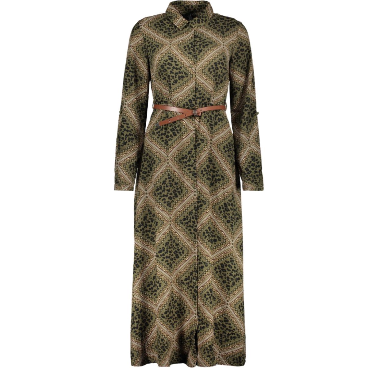 vmnaya l/s maxi shirt dress exp 10228776 vero moda jurk ivy green/graphic