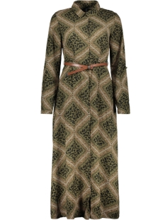 Vero Moda Jurk VMNAYA L/S MAXI SHIRT DRESS EXP 10228776 Ivy Green/GRAPHIC