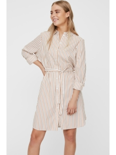 Vero Moda Jurk VMGEMMA LS ABK SHIRT DRESS WVN 10225890 Snow White/ROCKY ROAD