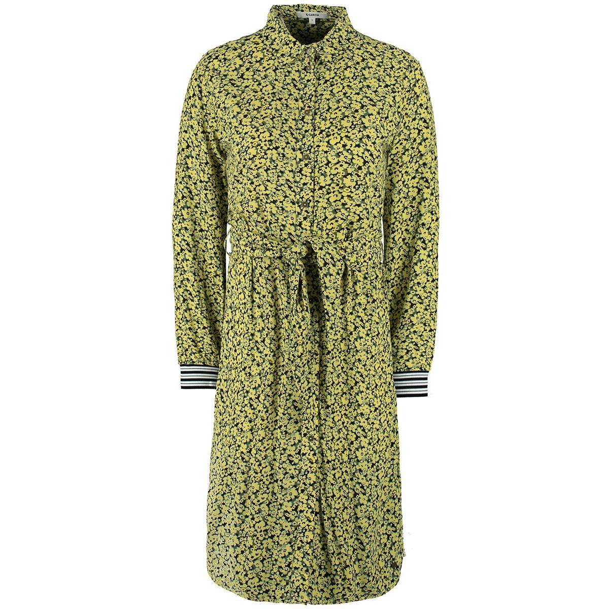 blousejurk met bloemenprint m00080 garcia jurk 145 limelight