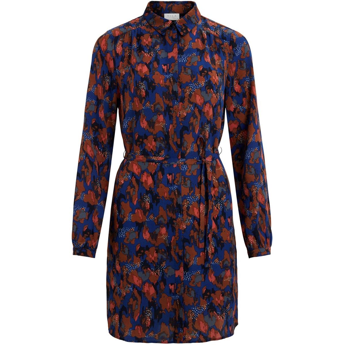 vimultiyana l/s shirt dress/l 14059200 vila jurk mazarine/yana