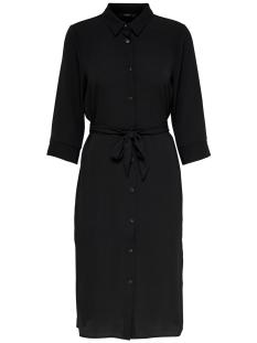 Only Jurk ONLNOVA LUX LONG SHIRT DRESS SOLID WVN 15200027 Black