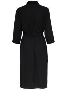 onlnova lux long shirt dress solid wvn 15200027 only jurk black