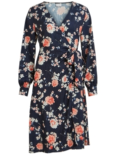 Vila Jurk VIWILLA L/S DRESS 14057413 Navy Blazer/FLOWERS