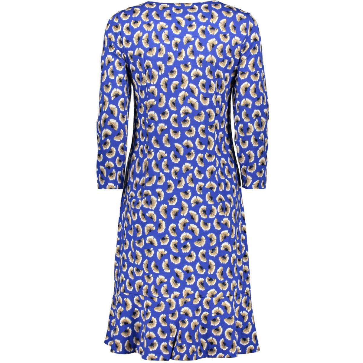 jersey jurk met bloemen 23001683 sandwich jurk 40031 signal blue