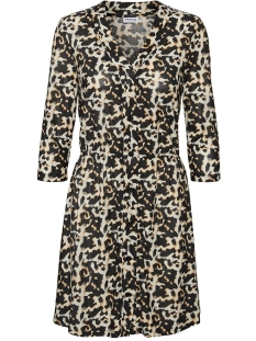 Noisy may Jurk NMSALLY 3/4 SHORT DRESS 27011961 Black/TORTOISELL