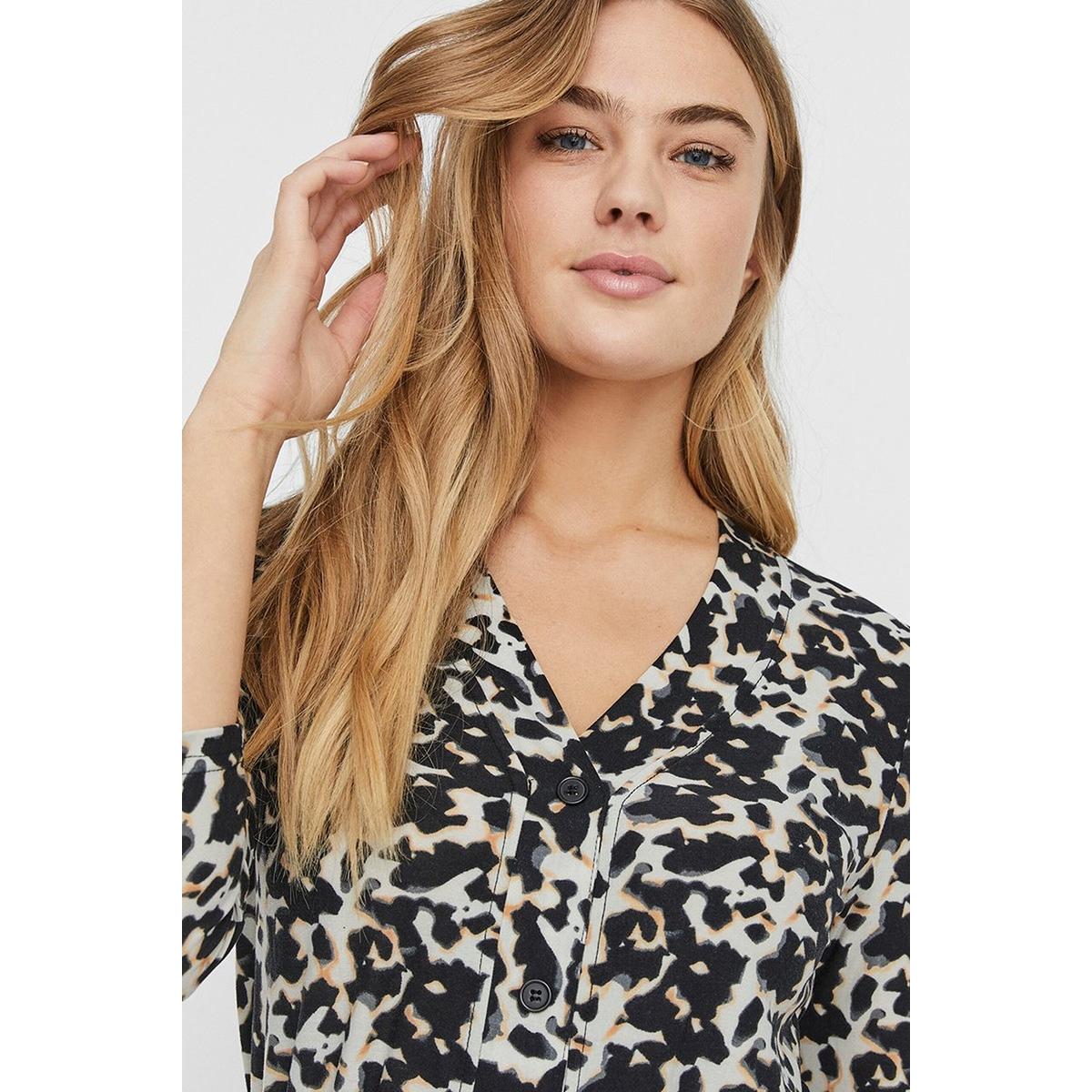 nmsally 3/4 short dress 27011961 noisy may jurk black/tortoisell