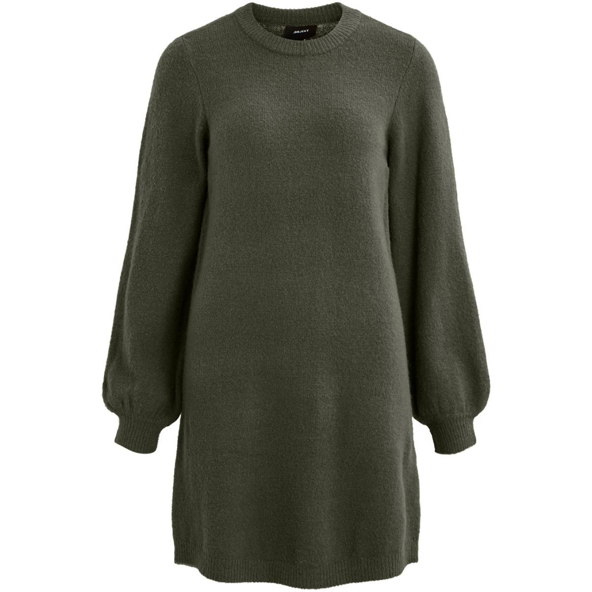 objeve nonsia l/s knit dress season 23030464 object jurk forest night