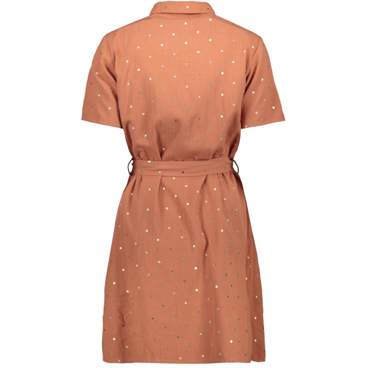 pcneya ss shirt dress kac fc 17102886 pieces jurk copper brown/foil