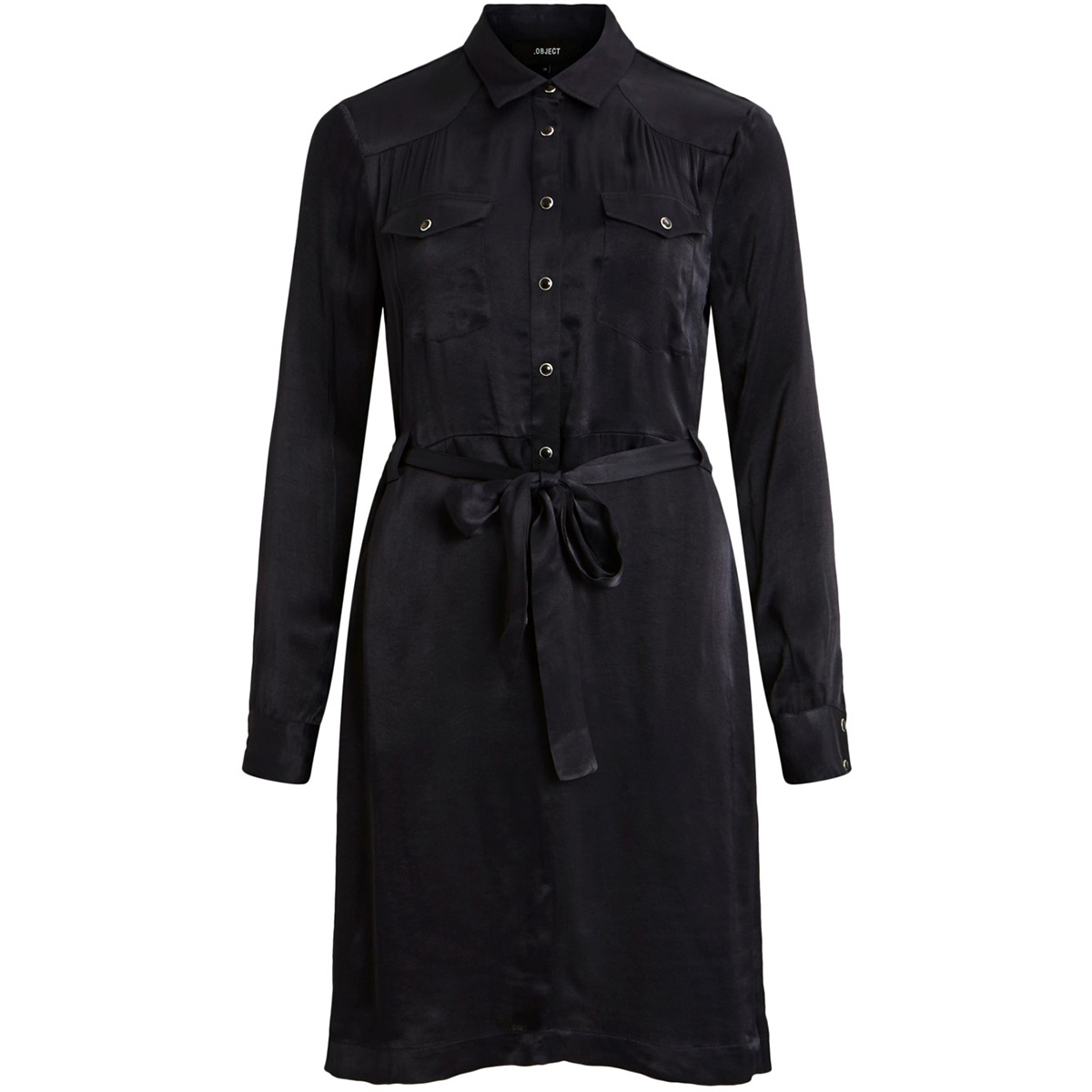 objmaxime ls shirt dress 107 23031585 object jurk black