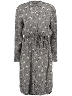 Saint Tropez Jurk WOVEN SHIRT DRESS ON KNEE U6018 0001 BLACK