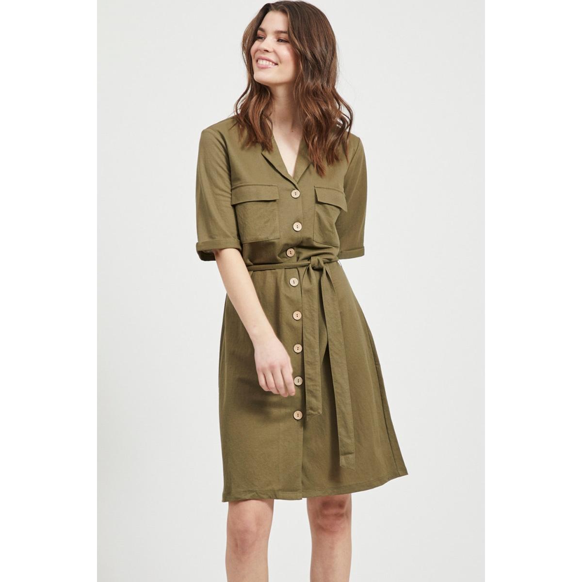 objthelma 2/4 dress 107 23031680 object jurk burnt olive