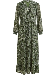vijemocarlia midi l/s dress/su 14056763 vila jurk loden frost/w. carlia