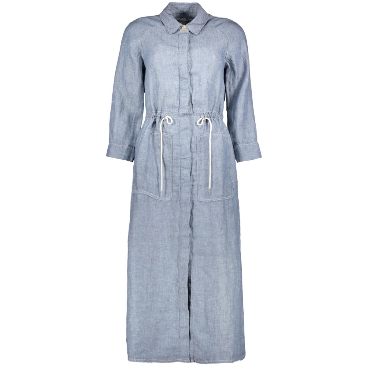 linnen jurk 23001744 sandwich jurk 41028 cloud melange