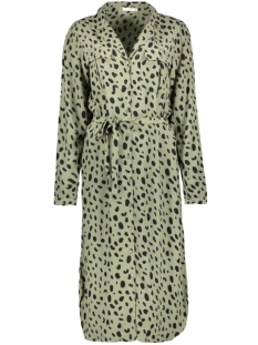 Pieces Jurk PCPENNY LS MIDI SHIRT DRESS D2D 17107950 Deep Lichen Green/DOTS