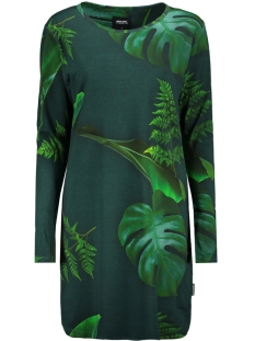 Snurk Jurk LONG SLEEVE DRESS GREEN FOREST