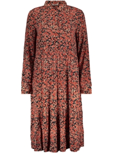 Pieces Jurk PCADELLA LS DRESS D2D 17107868 Chili Oil/FLOWER