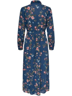 onlclaire l/s midi shirt dress wvn 15195968 only jurk dark denim/empowered