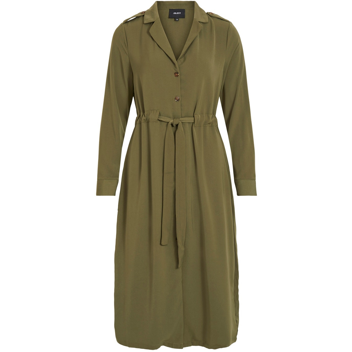 objmae l/s dress a q 23032727 object jurk burnt olive