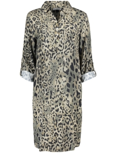 Geisha Jurk DRESS AOP LEOPARD 07039 60 ARMY CAMOUFLAGE