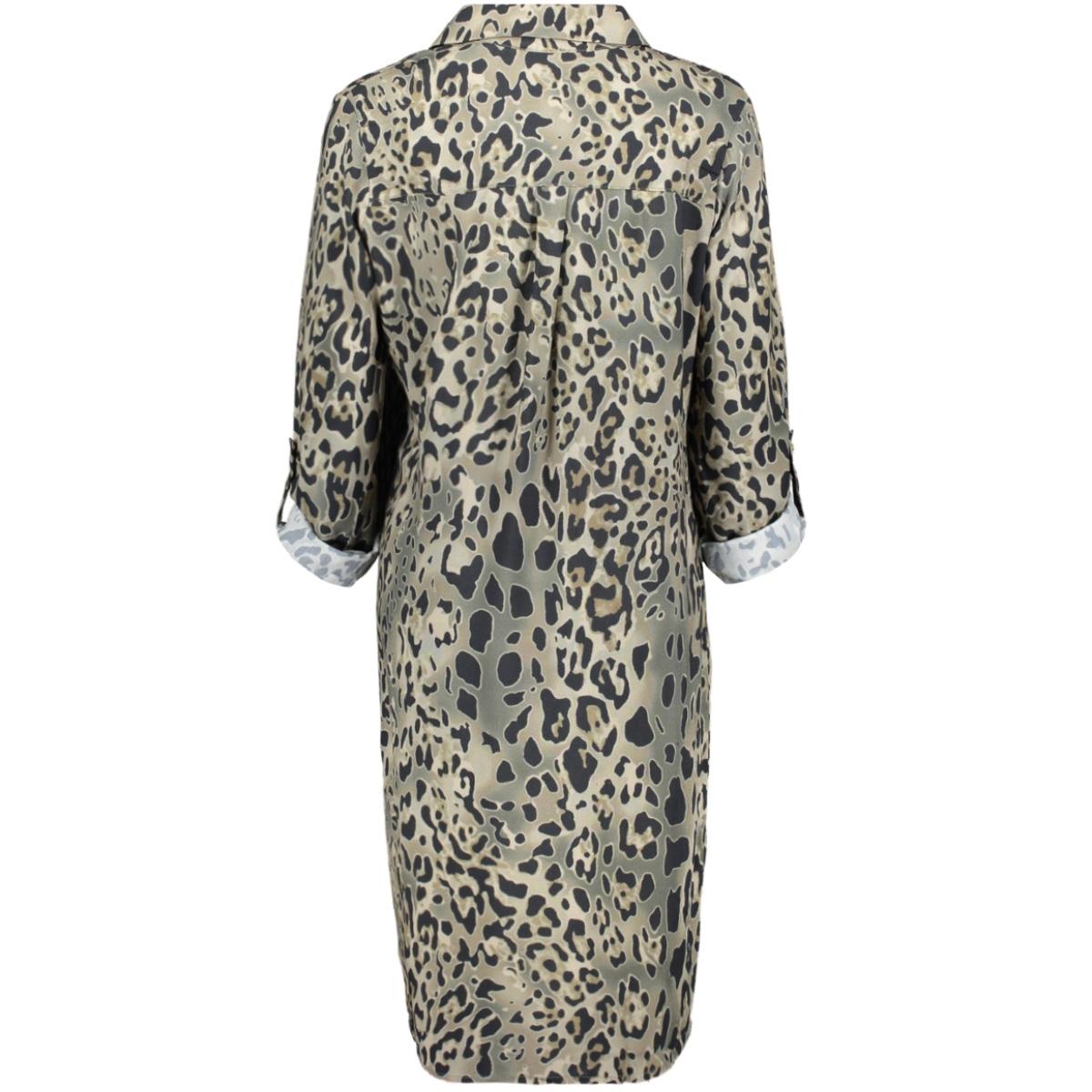 dress aop leopard 07039 60 geisha jurk army camouflage