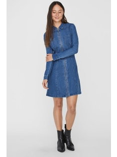 Noisy may Jurk NMLISA DENIM ZIP DRESS SU00MB BG NO 27011028 Medium Blue Denim