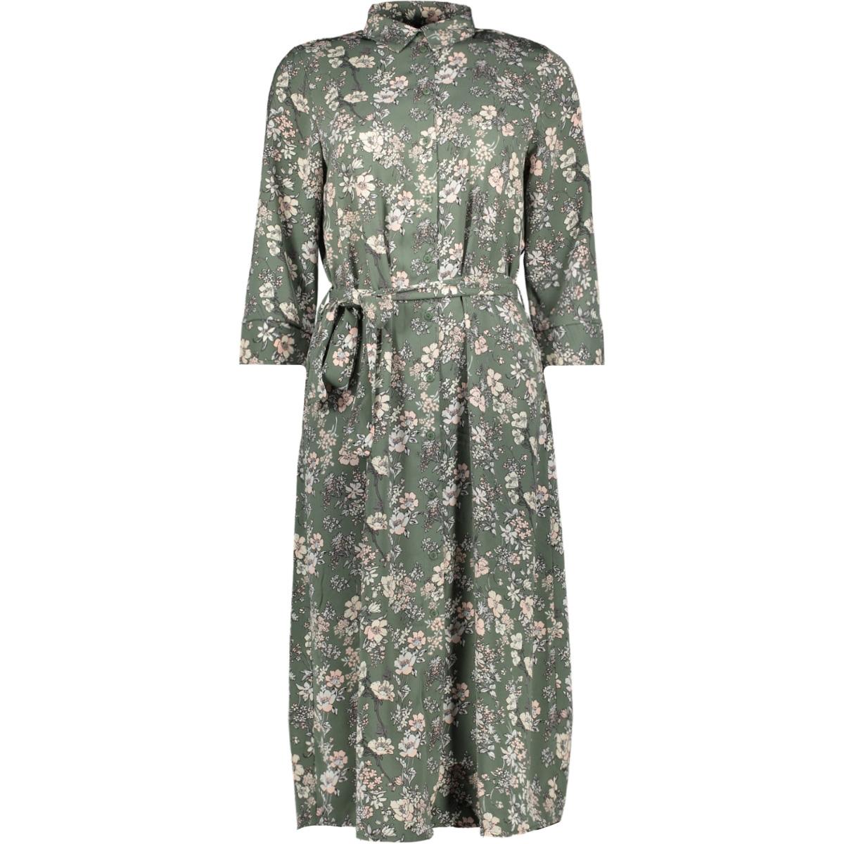 vmdiana 3/4 calf shirt dress wvn da 10227859 vero moda jurk laurel wreath/diana