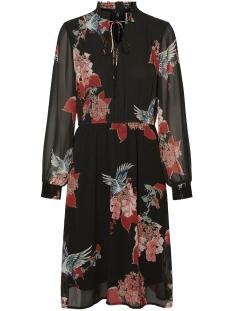 vmcrane l/s smock dress exp 10234329 vero moda jurk black/crane