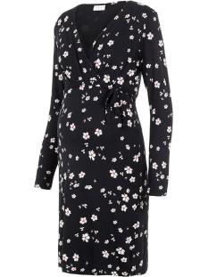 Mama-Licious Positie jurk MLKARELY TESS L/S JERSEY ABK DRESS 20011295 Black/SNOW WHITE