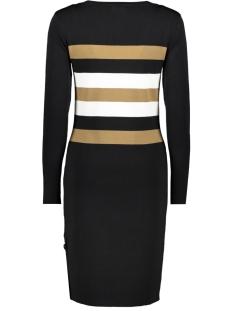 dress knitted with stripes 97516 geisha jurk black/carmel/offwhite