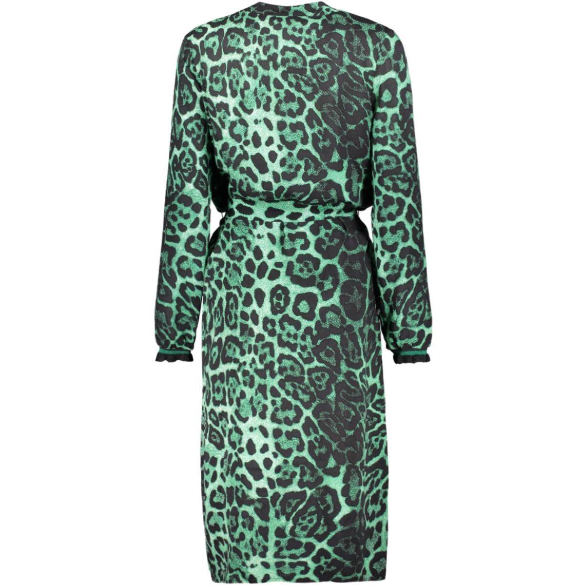 maxi dress op with strap 97751 geisha jurk green combi