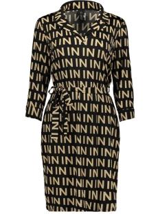 IZ NAIZ Jurk DRESS 3670 BLACK/PRINT