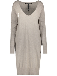 v neck dress 20 637 0201 10 days jurk 1068 clay