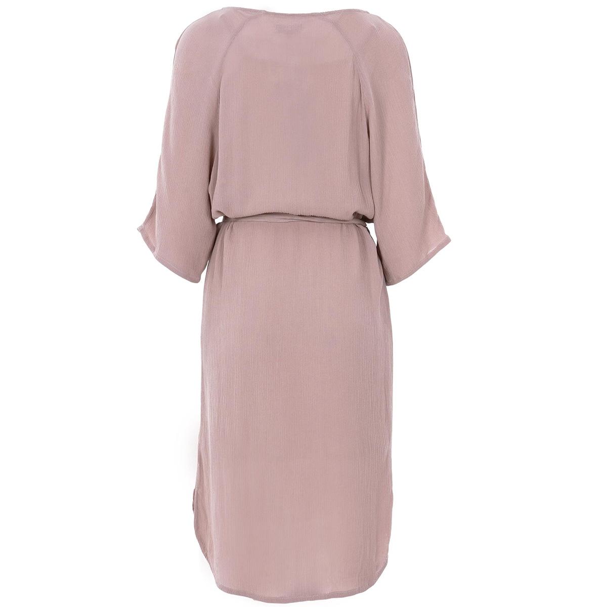 nonchalante jurk met ceintuur zusss jurk lila